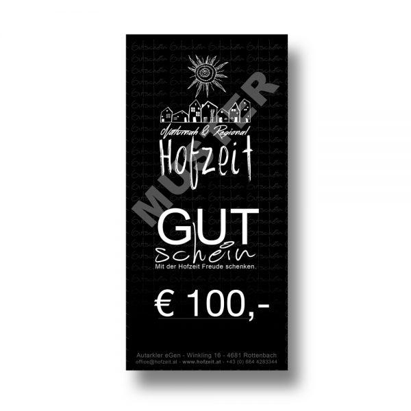 Hofzeit Wertgutschein 100 Euro