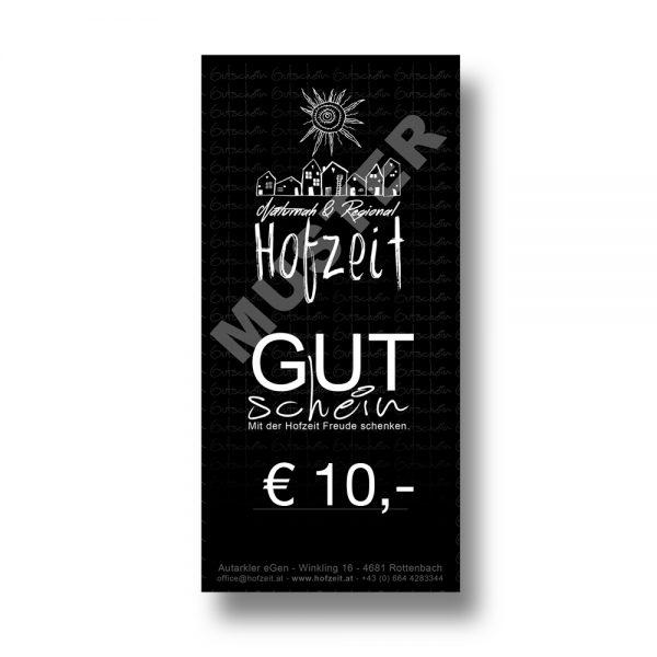 Hofzeit Wertgutschein 10 Euro