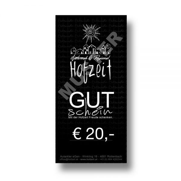 Hofzeit Wertgutschein 20 Euro